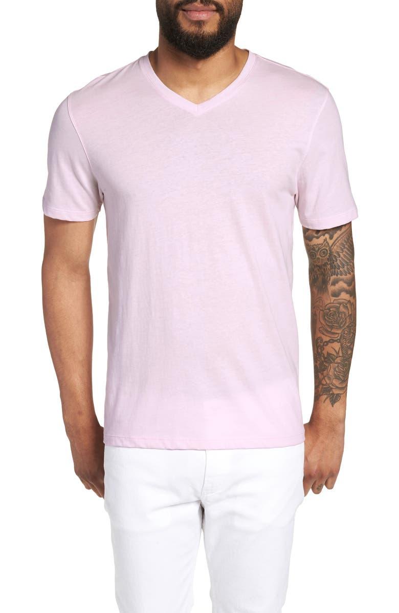 ZACHARY PRELL Mercer Regular Fit V-Neck T-Shirt, Main, color, LIGHT PINK
