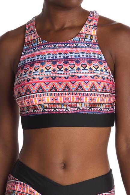 Image of NEXT Daylight Geometric Print Racerback Bikini Top