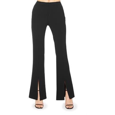 Parker Dorothy Flare Split Hem Pants, Black