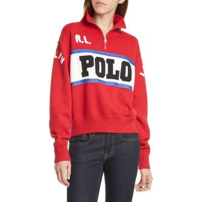Polo Ralph Lauren Half-Zip Sweatshirt, Red