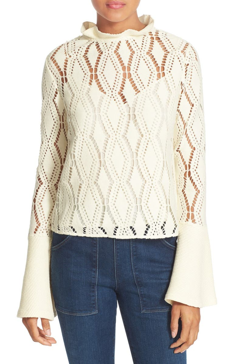 SEE BY CHLOÉ Lace Top, Main, color, 101