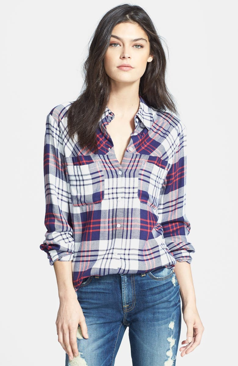 ACE DELIVERY Plaid Shirt, Main, color, 400