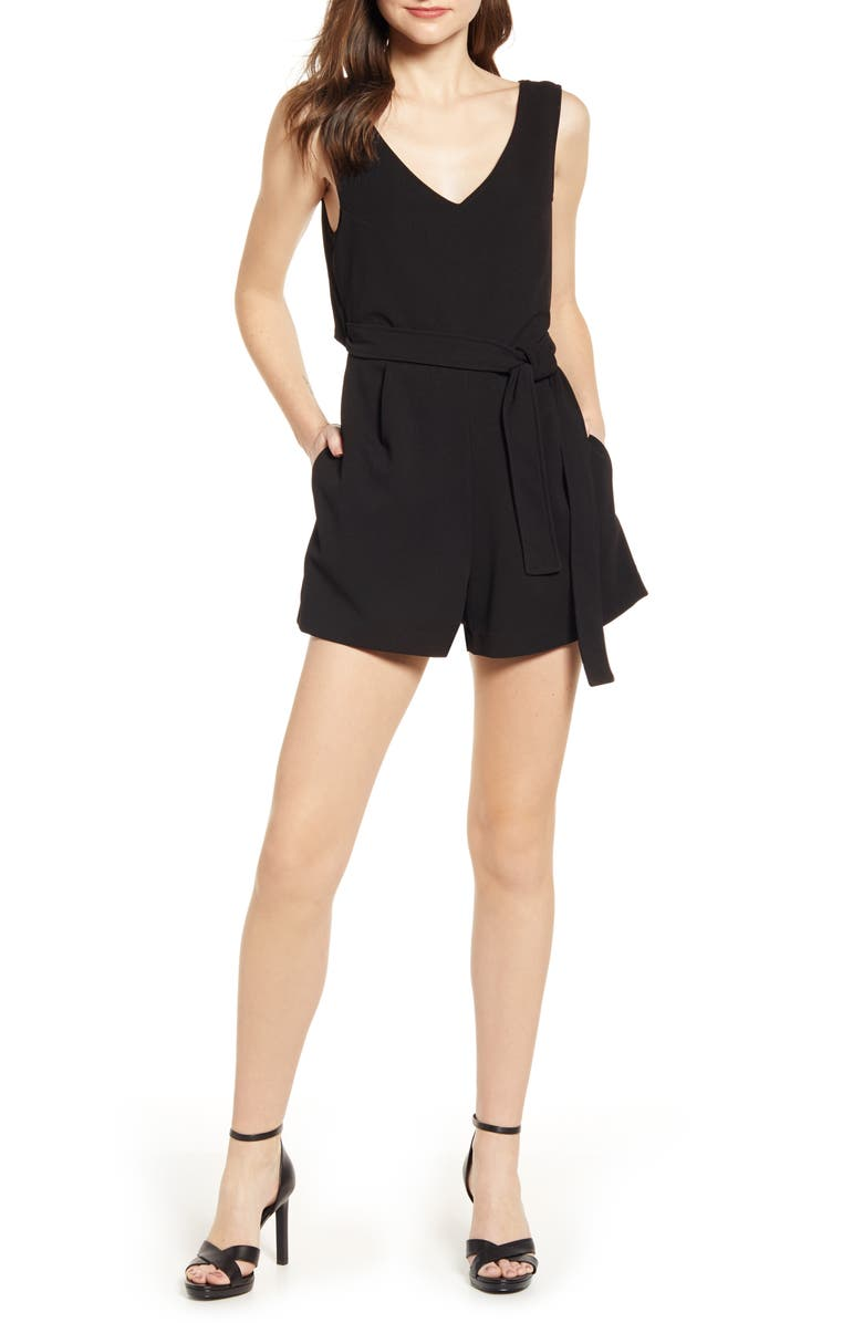 BISHOP + YOUNG Desert Zen Romper, Main, color, BLACK