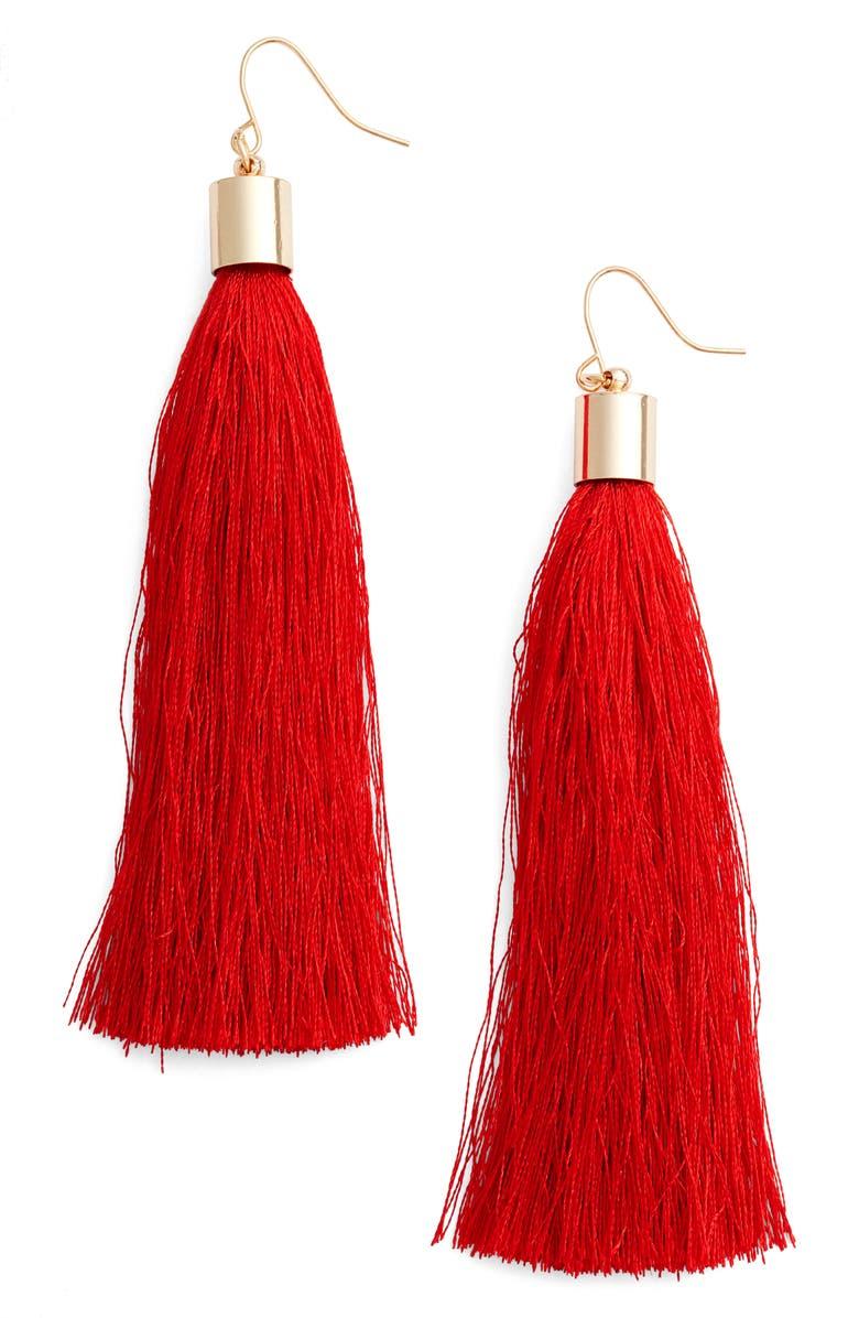 ADIA KIBUR Tassel Earrings, Main, color, 600