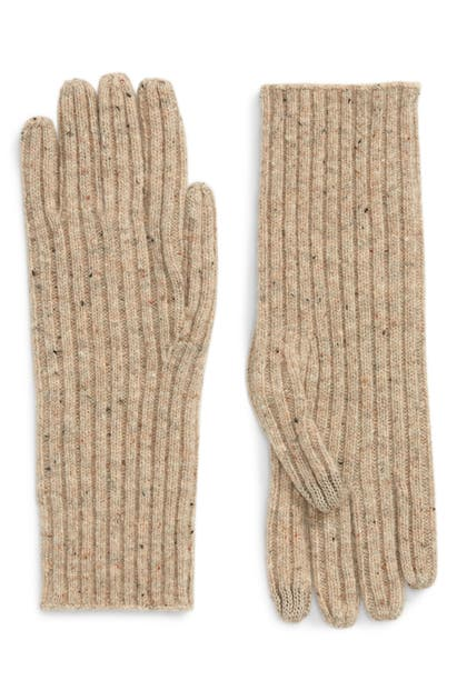 Madewell Ribbed Texting Gloves In Desert