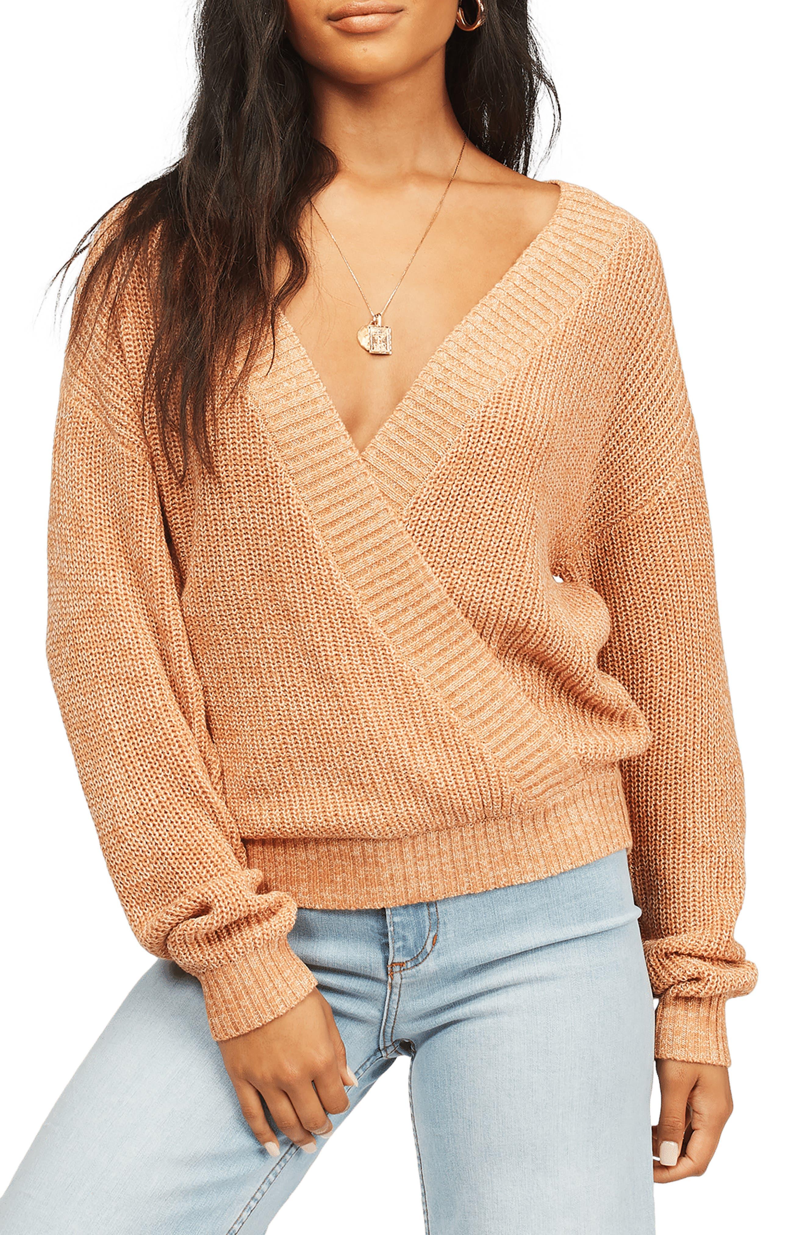 Bring It Faux Wrap Sweater