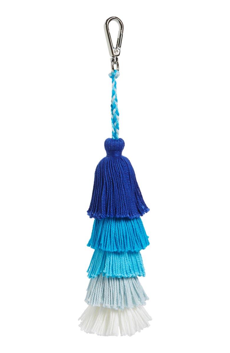 STREET LEVEL Tassel Bag Charm, Main, color, 400