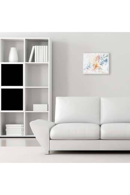 """Image of PTM Images Rainbow Abstract Framed Gallery Wrapped Canvas - 17.5"""" x 21.5"""""""