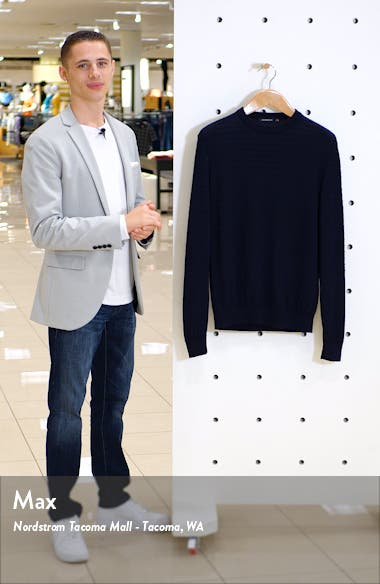 Stripe Knit Crewneck Sweater, sales video thumbnail