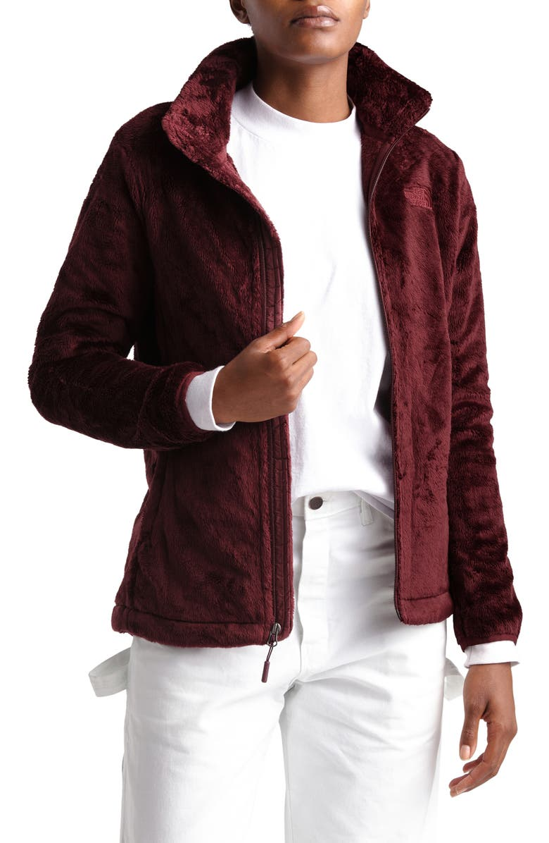 THE NORTH FACE Osito Fleece Jacket, Main, color, DEEP GARNET RED