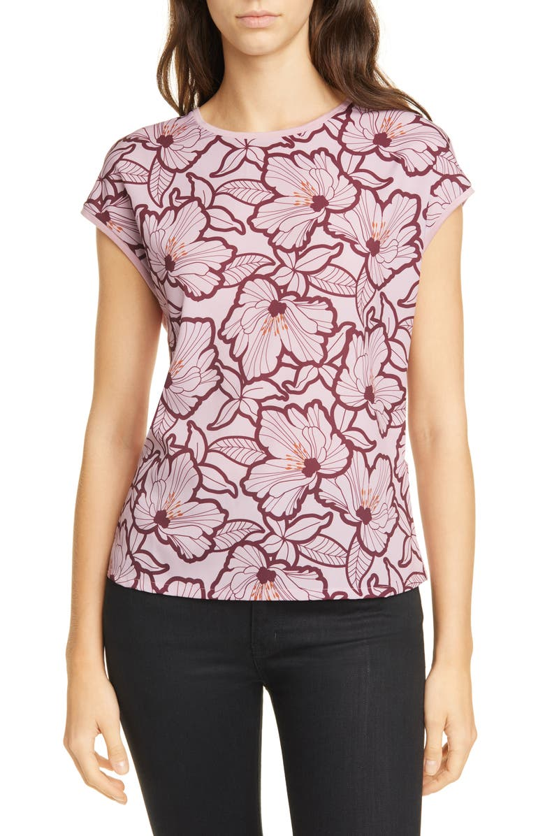TED BAKER LONDON Cordine Amber Floral Woven Front Top, Main, color, 660