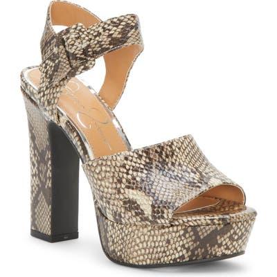 Jessica Simpson Naenia Platform Sandal- Brown