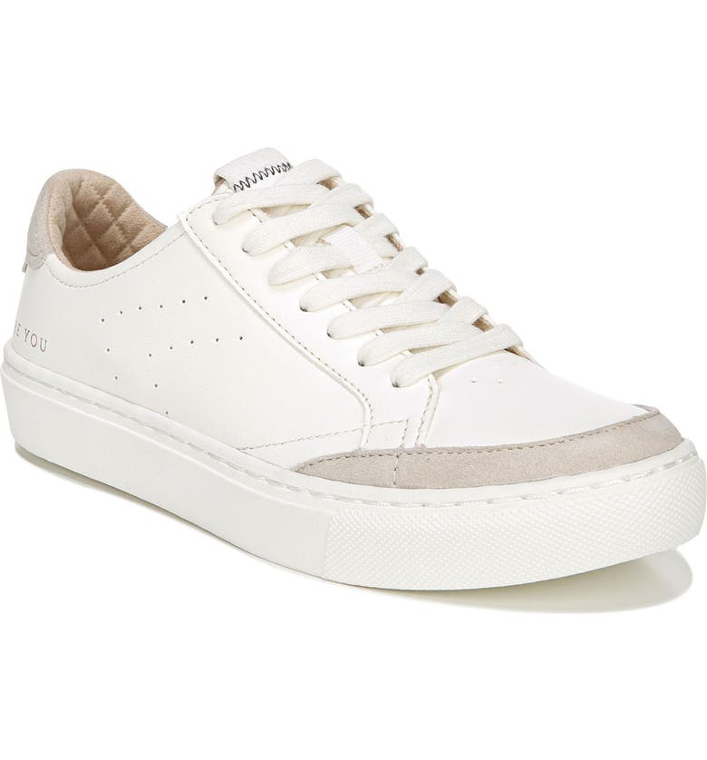 DR. SCHOLL'S All In Platform Sneaker, Main, color, WHITE LEATHER