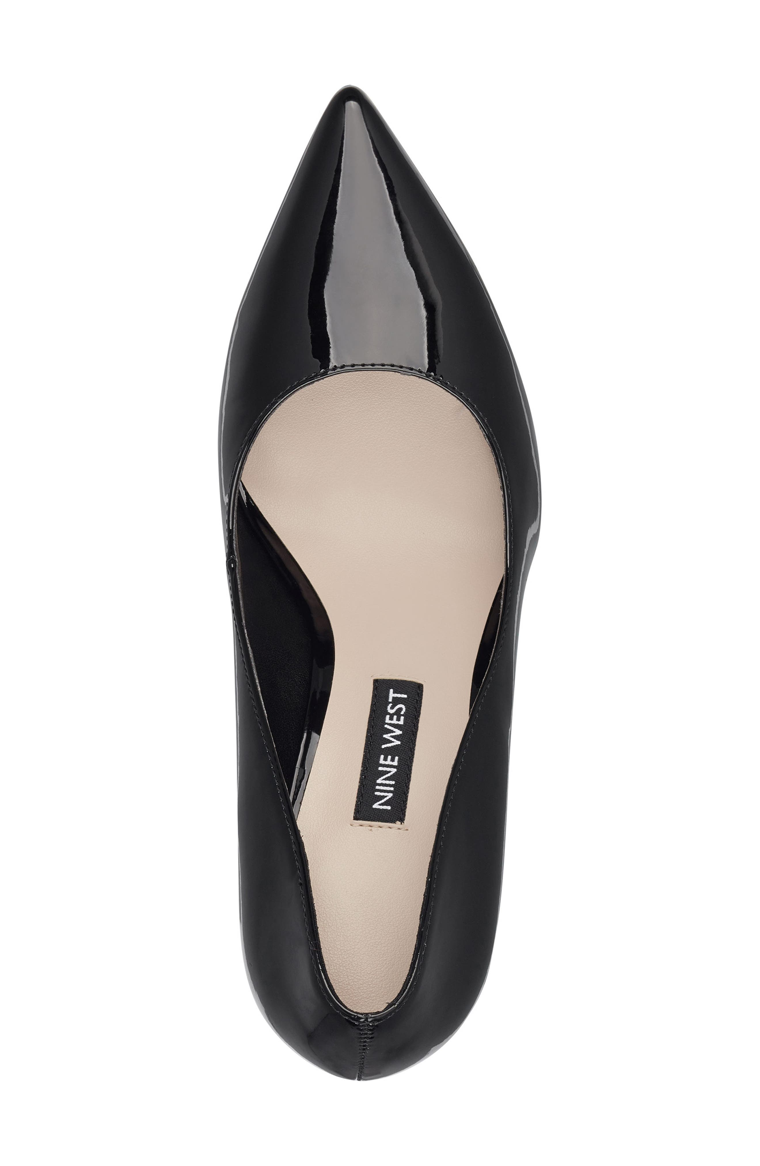 ,                             'Tatiana' Pointy Toe Pump,                             Alternate thumbnail 4, color,                             BLACK PATENT LEATHER