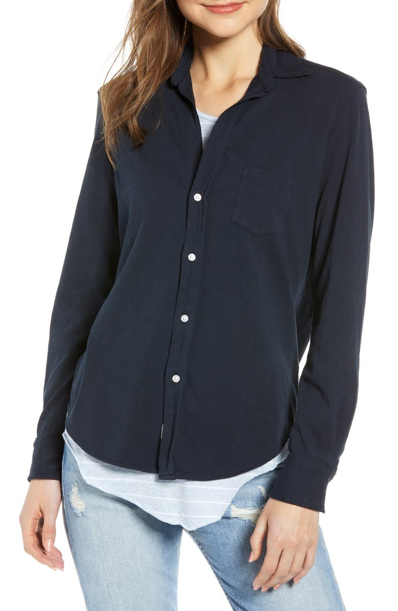 FRANK & EILEEN Tee Lab Button Front Jersey Shirt, Main, color, 411