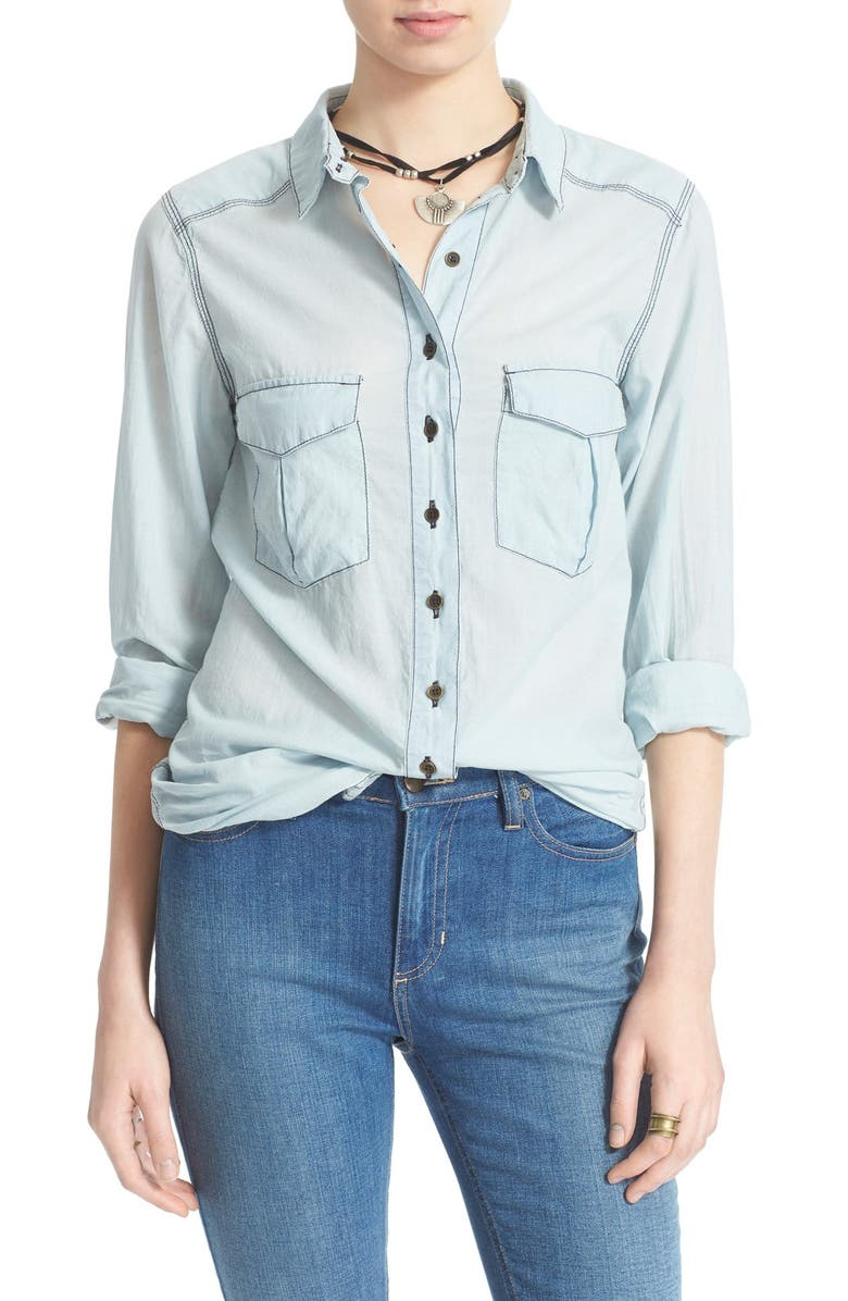 FREE PEOPLE 'Last Chance' Shirt, Main, color, 450