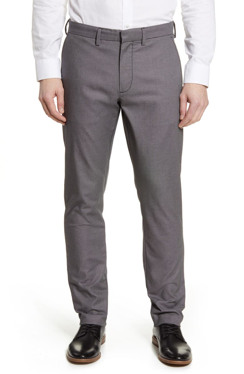 NORDSTROM MEN'S SHOP Athletic Fit Non-Iron Chinos, Main, color, 001