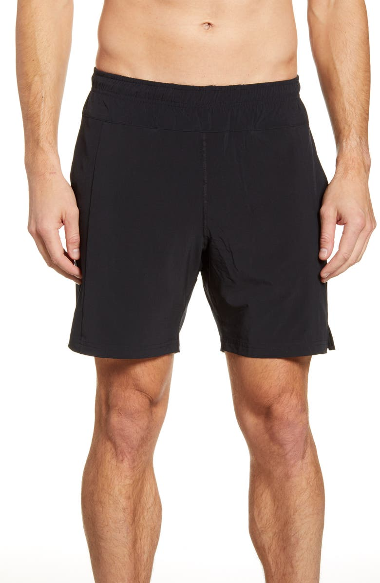FOURLAPS Bolt 7 Inch Shorts, Main, color, BLACK