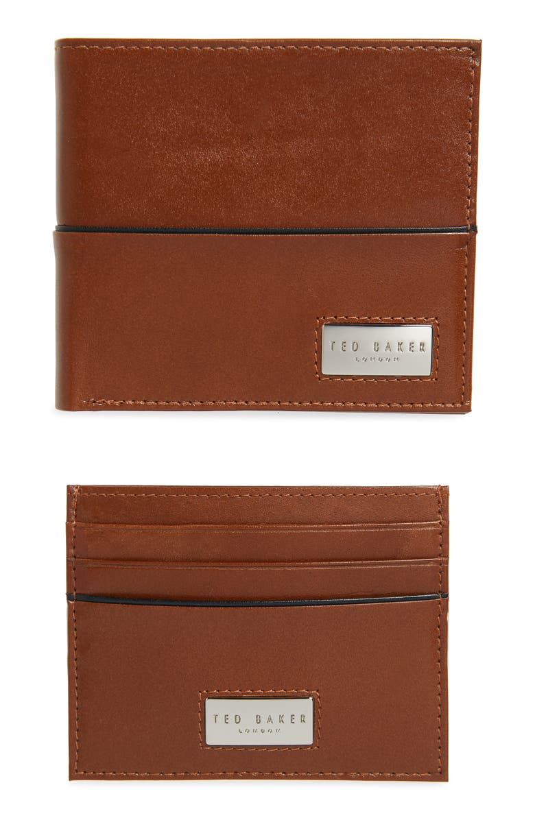 TED BAKER LONDON Muese Wallet & Card Case Set, Main, color, TAN