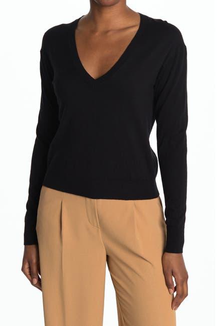 Image of Thakoon V-Neck Long Sleeve Sweater