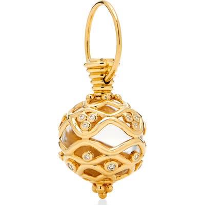 Temple St. Clair Theodora Pave Diamond Rock Crystal Amulet