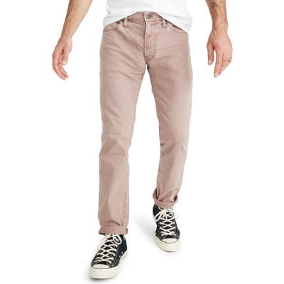 Madewell Everyday Flex Garment Dyed Slim Fit Jeans, Pink