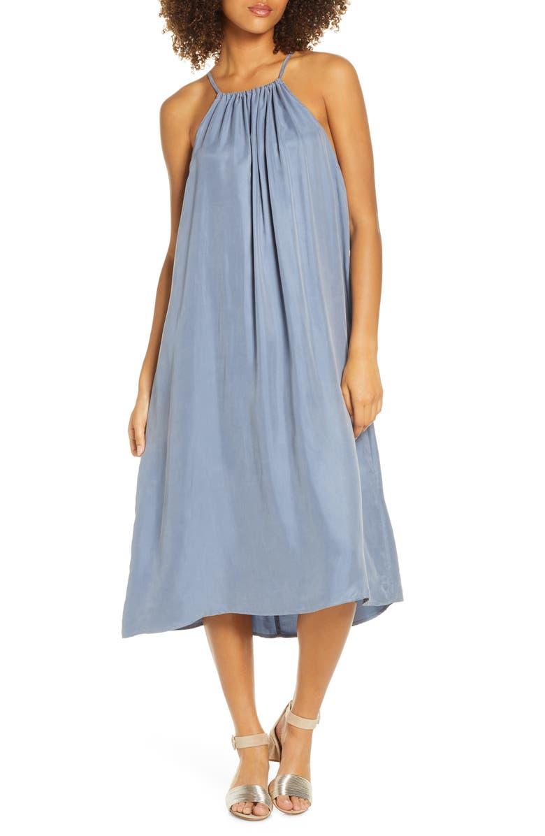 SANCIA Isla Sleeveless Halter Midi Dress, Main, color, MOONLIGHT