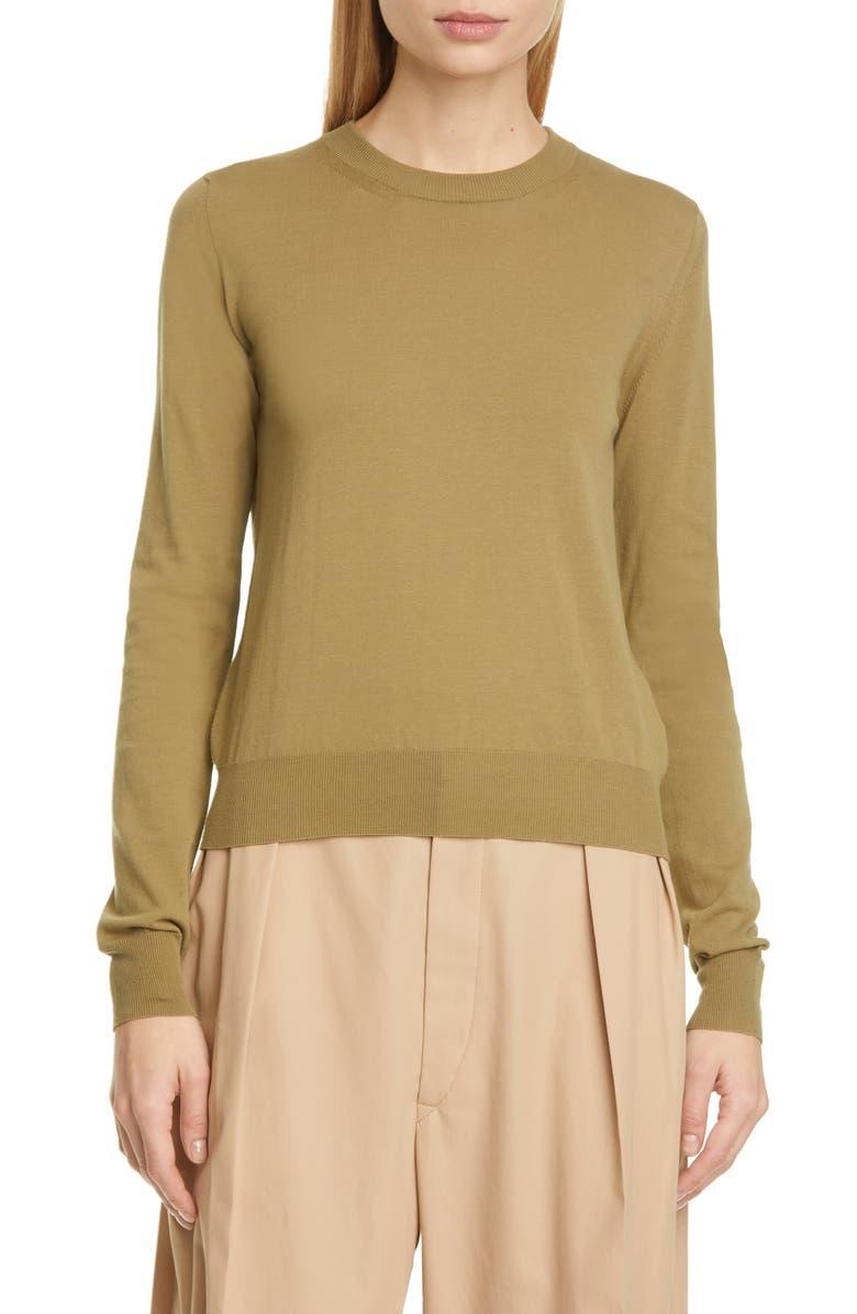 MAISON MARGIELA Stitch Elbow Patch Cotton Sweater, Main, color, 307