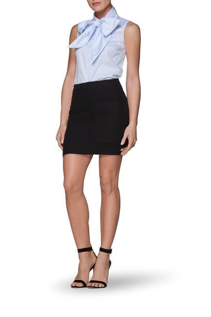 Image of SUISTUDIO Nash Wool Blend Tweed Mini Skirt