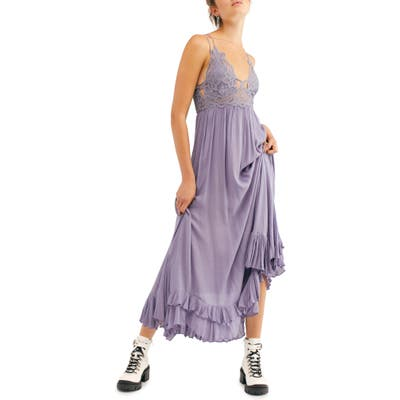 Free People Adella Maxi Slipdress, Grey