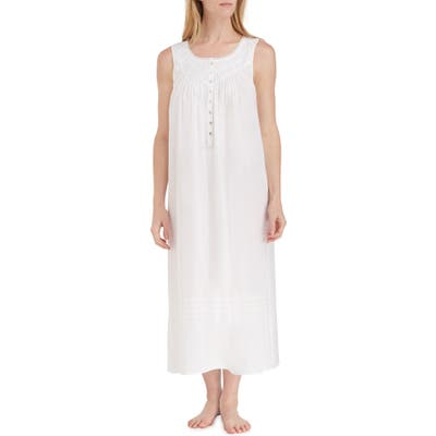Eileen West Cotton Lawn Ballet Nightgown, White