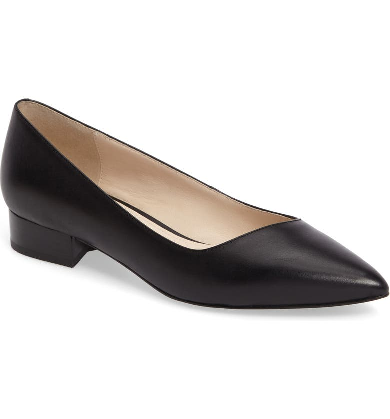 COLE HAAN Heidy Pointy Toe Flat, Main, color, 001
