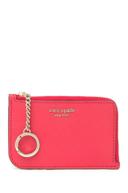 Image of kate spade new york leather cameron l-zip card holder