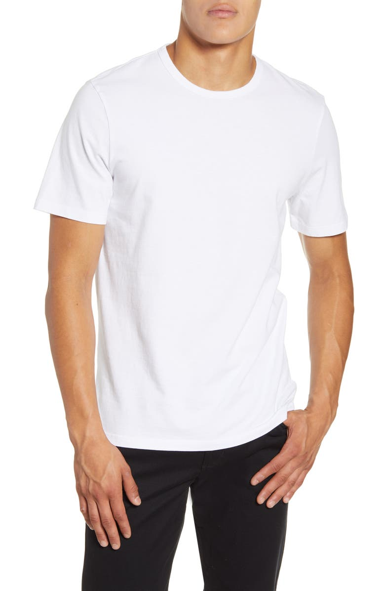 VINCE Solid T-Shirt, Main, color, OPTIC WHITE