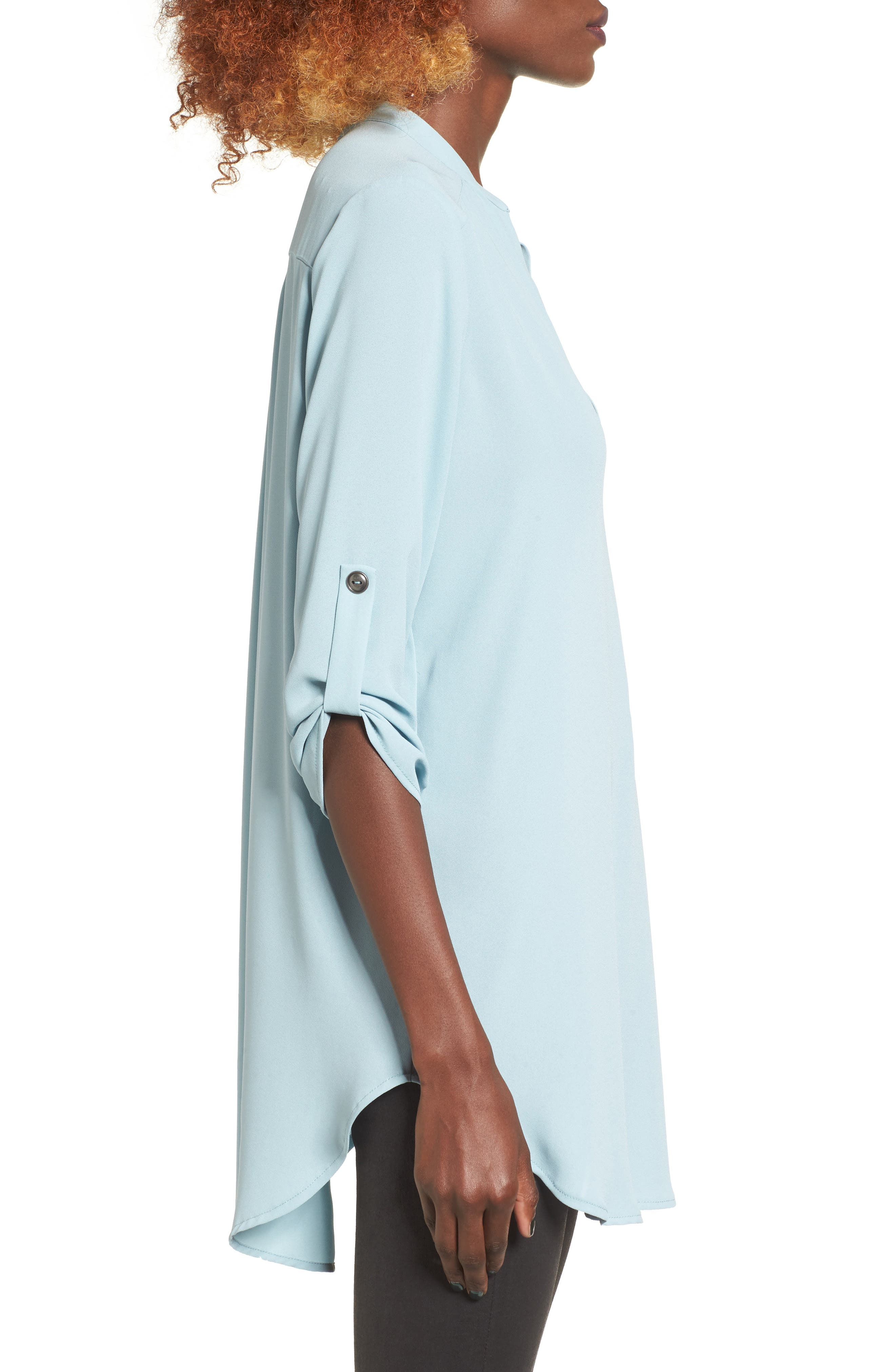 ,                             Perfect Roll Tab Sleeve Tunic,                             Alternate thumbnail 195, color,                             021