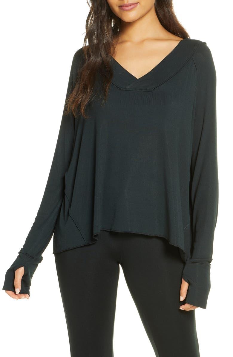 FELINA Essentials Ribbed Top, Main, color, BLACK