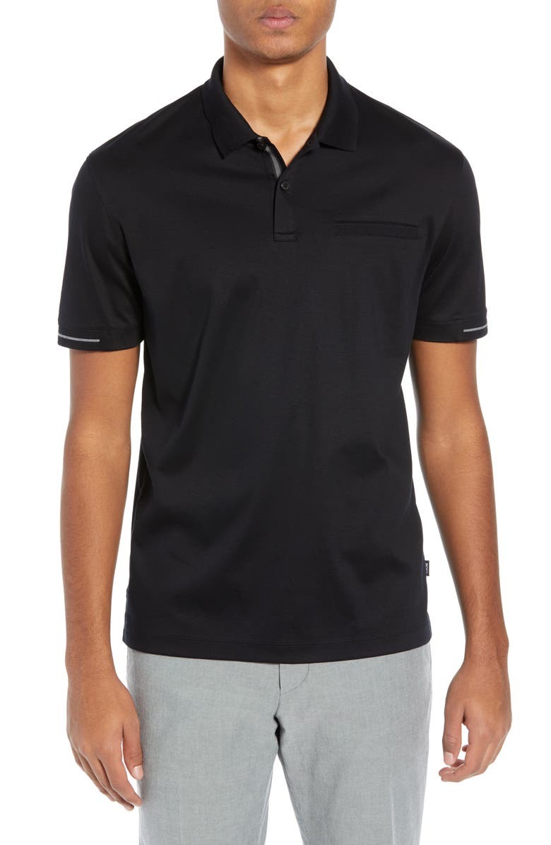 BOSS Parlay Regular Fit Polo, Main, color, 001