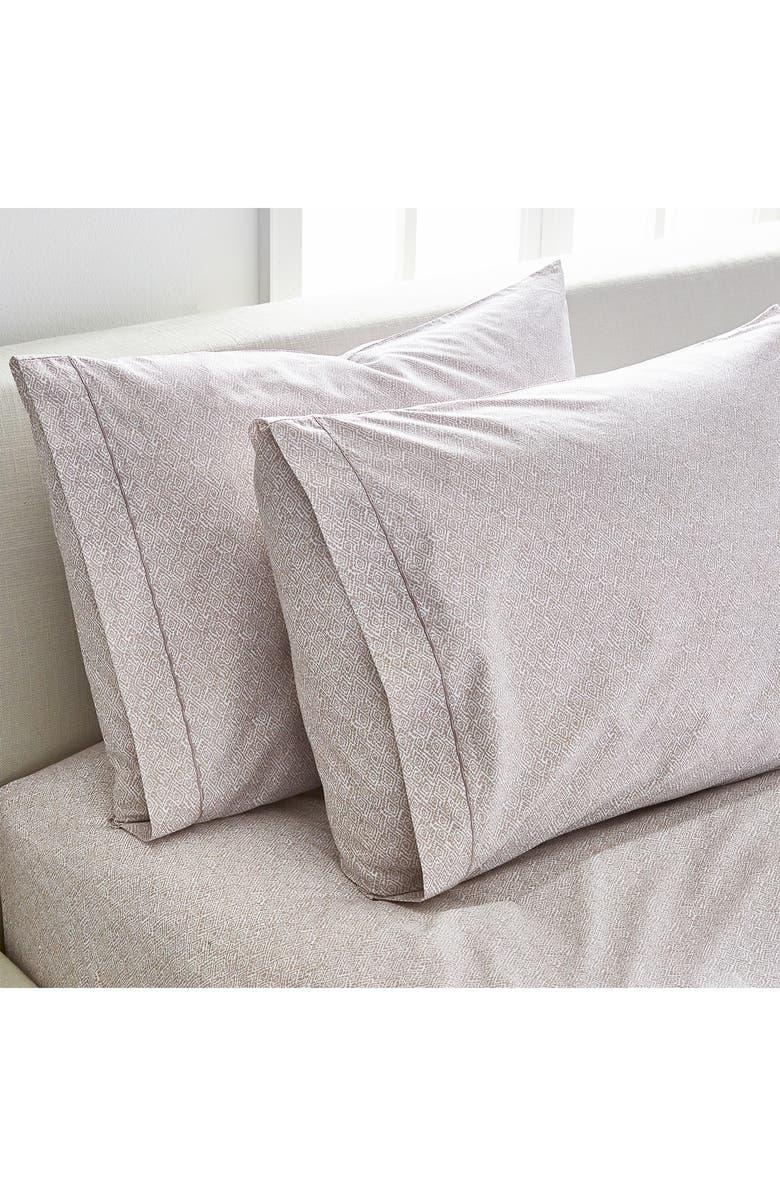 SPLENDID HOME DECOR Diamonds Set of Two Pillowcases, Main, color, LIGHT TAUPE