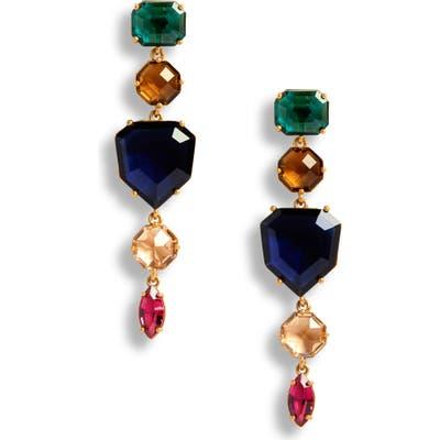 Kate Spade New York Multicolor Crystal Linear Drop Earrings