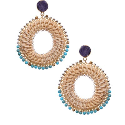 Nakamol Design Woven Circle Earrings