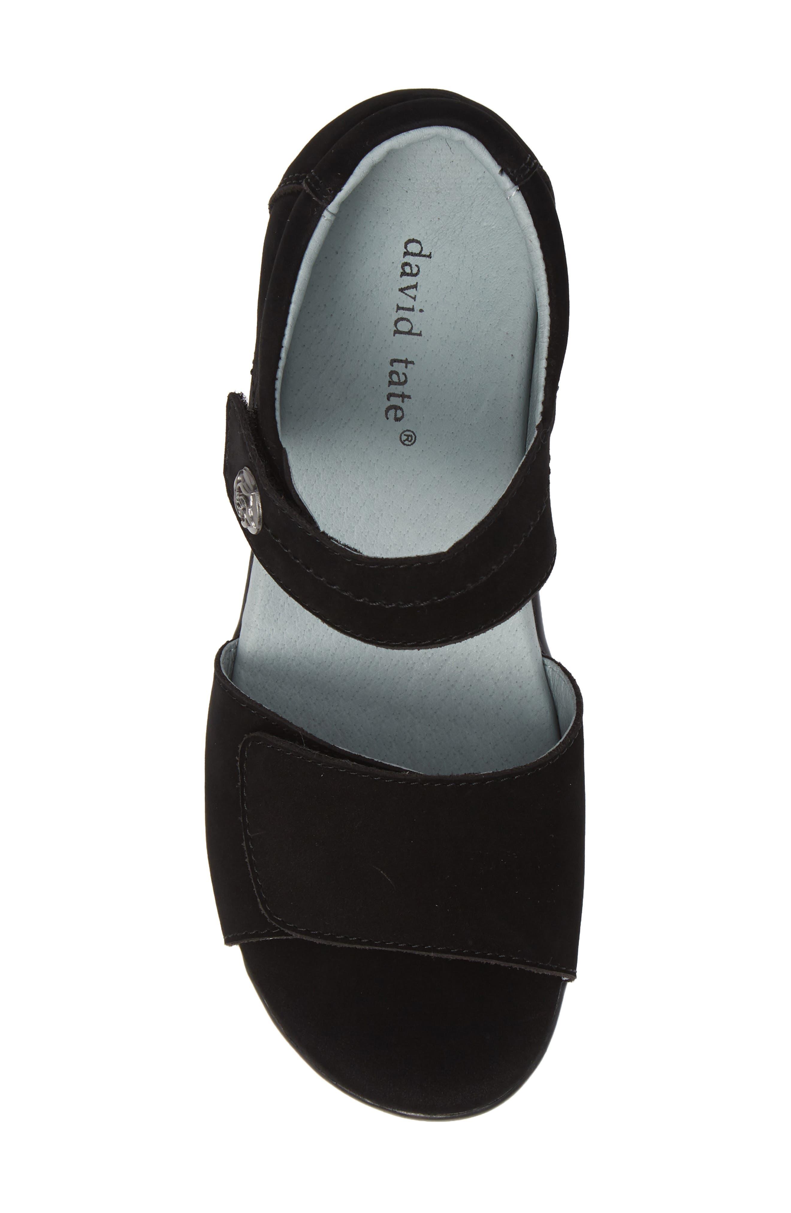 ,                             Superb Sandal,                             Alternate thumbnail 5, color,                             BLACK NUBUCK LEATHER