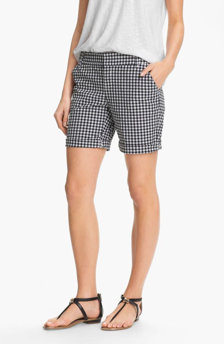 CASLON<SUP>®</SUP> Clean Front Nine-Inch Shorts, Main, color, 001