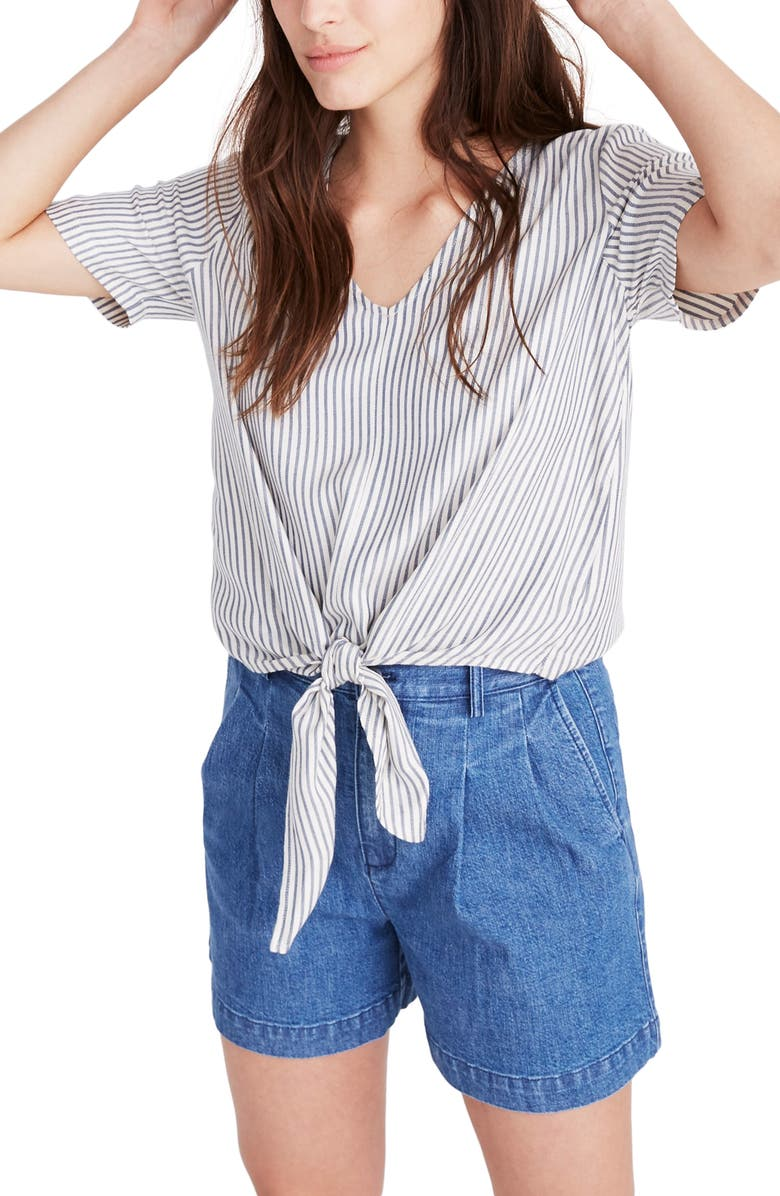 MADEWELL Tie Front Top, Main, color, 400