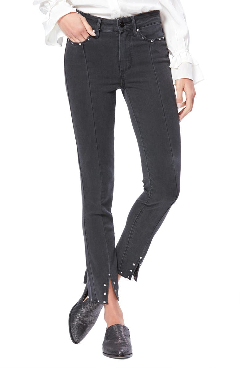 PAIGE Transcend Vintage Hoxton High Waist Ankle Skinny Jeans, Main, color, 001