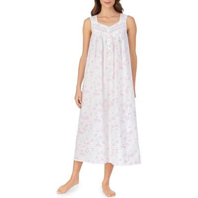 Eileen West Ballet Cotton Nightgown, Pink