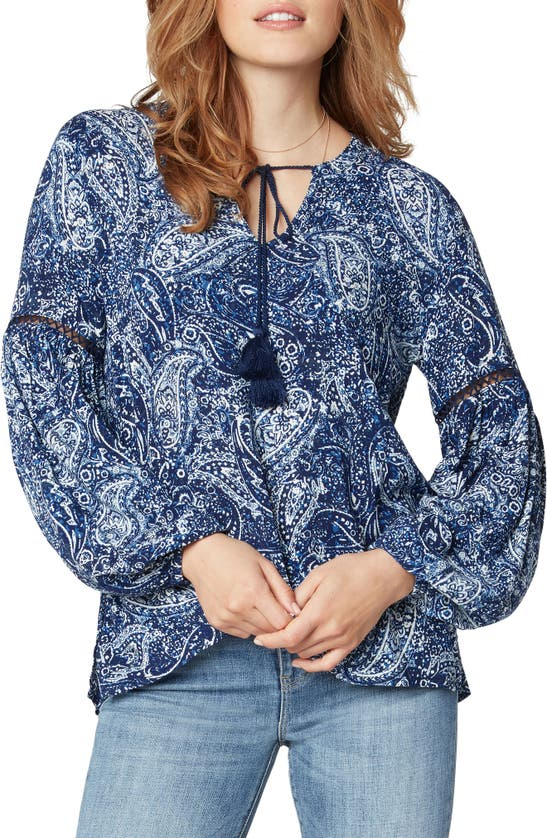 LIVERPOOL LOS ANGELES Blouses PAISLEY TIE FRONT POPOVER TOP