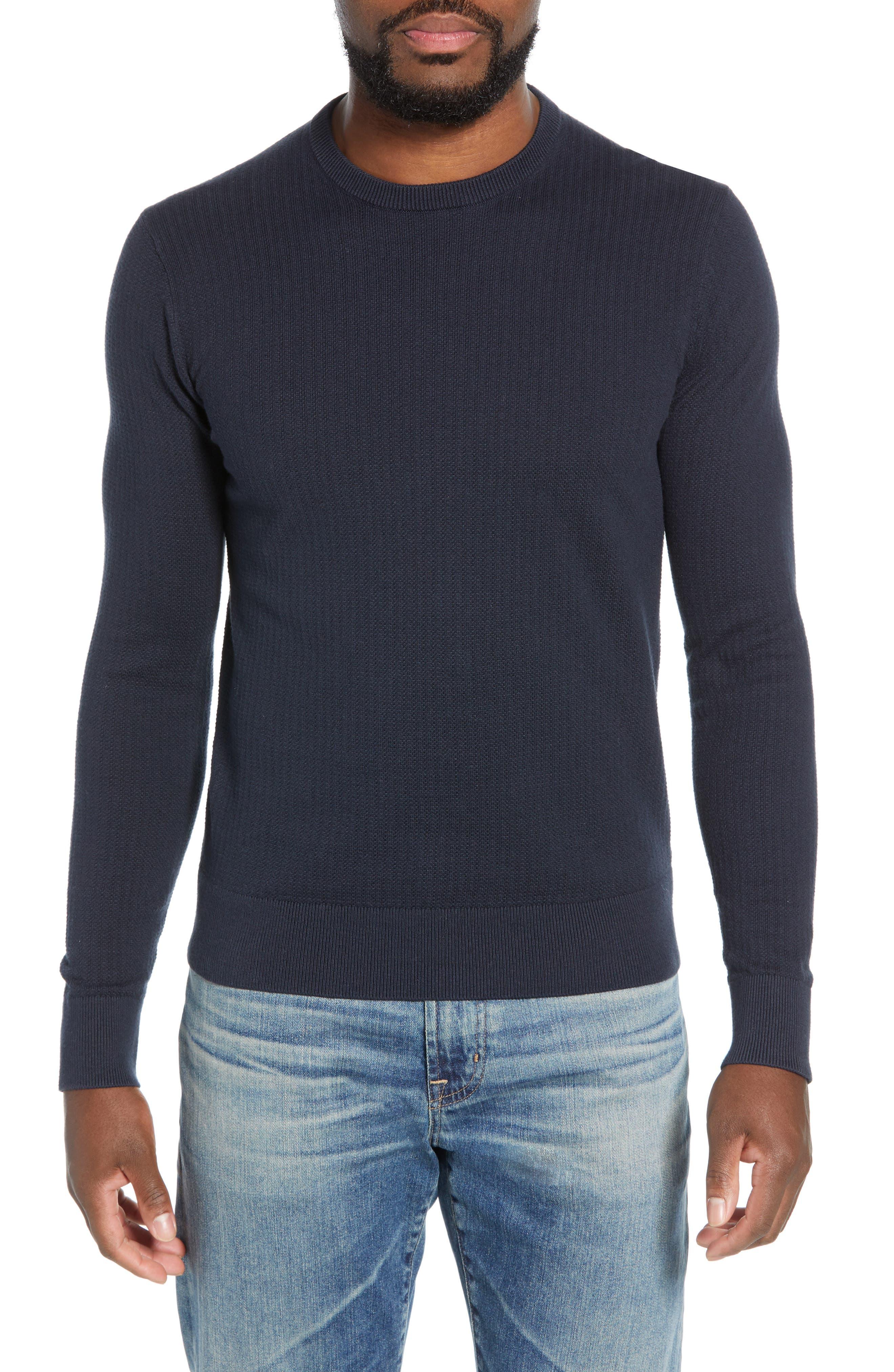 Todd Snyder Slim Fit Crewneck Sweater, Blue