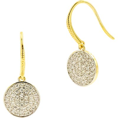 Freida Rothman Radiance Pave Disc Drop Earrings