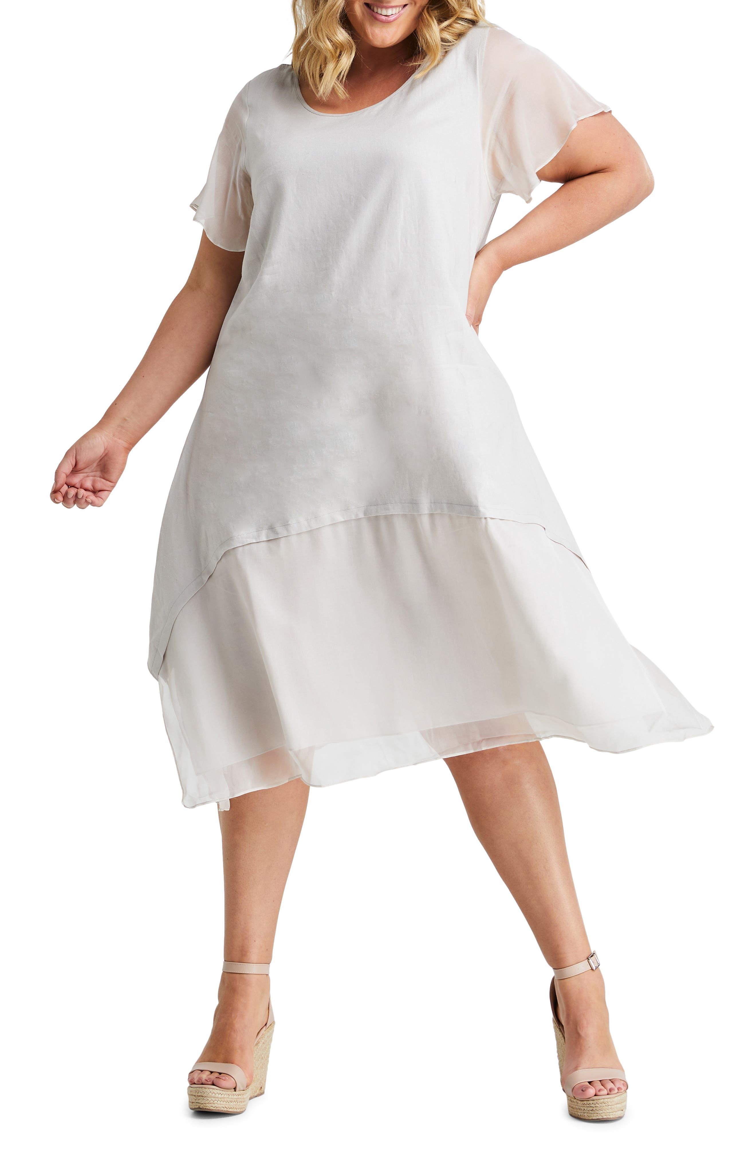 Mimosa Linen Blend Swing Dress