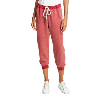 The Great. The Cropped Sweatpants, Red
